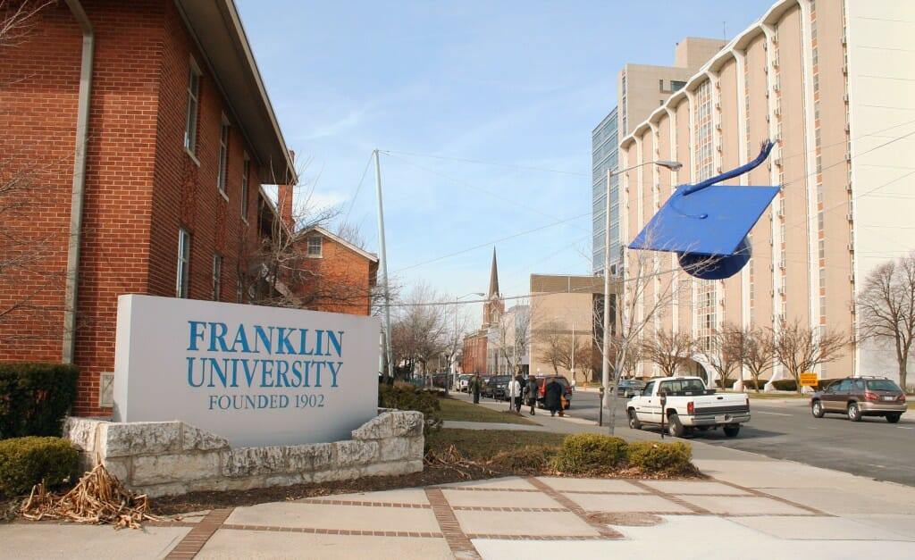 franklin web development online degree